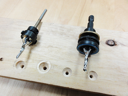 Tapered Drill Bits and Countersinks, W / Non-mark stop collar